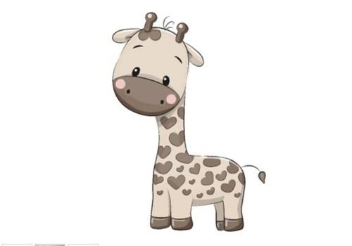 Panel - teplákovina  žirafa