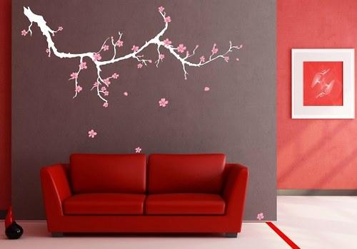 Samolepky na zeď - Sakura (100 x 46 cm)