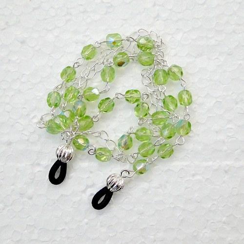 řetízek na brýle - světle zelený