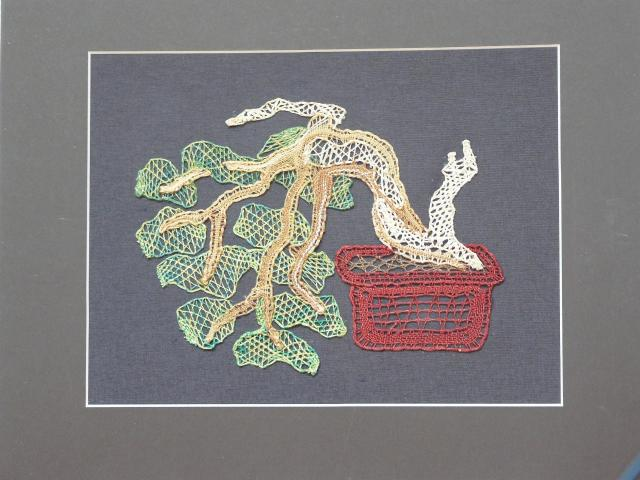 Paličkovaný obraz - bonsai