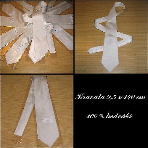 Hedvábná kravata - krepdešín 12