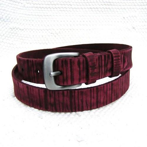 Fialový zdobený pásek