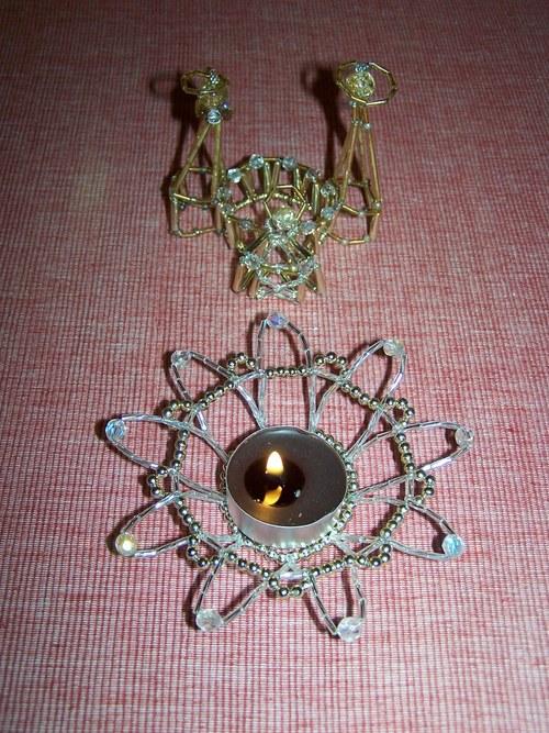 Betlém zlatý a svícen