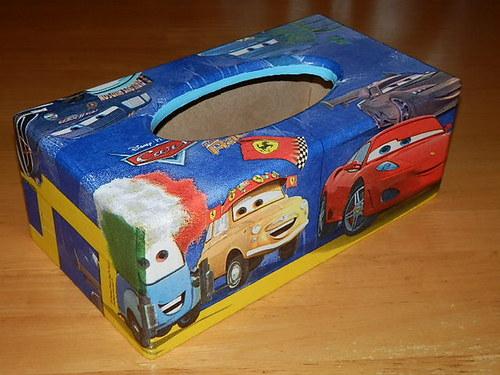 Krabička na kapesníky Cars