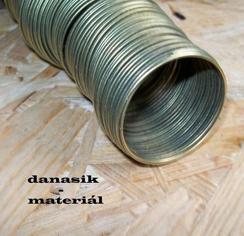 BRONZ. PAMĚŤOVÝ NÁRAMKOVÝ DRÁT - TL. 1 mm - 40 mm