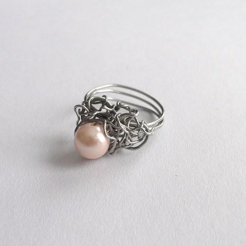 s perlou šampaň..prsten