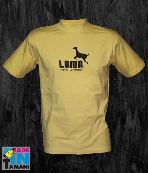 Pánské světle žluté tričko s Lamou