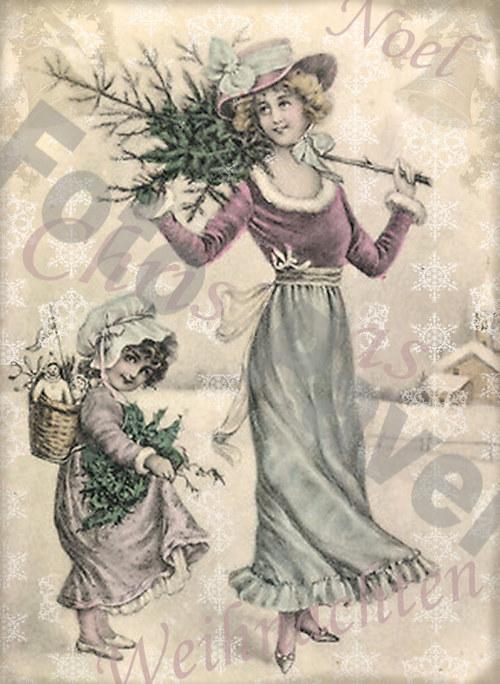Vintage motiv - vánoce 13-1