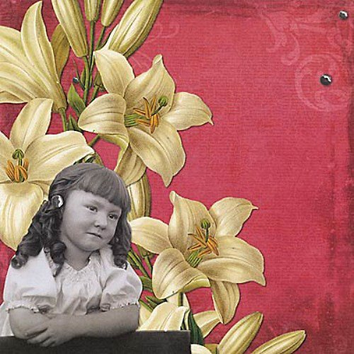 Vintage Collage čtvrtka na scrapbooking