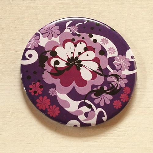 Zrcátko květinový ornament II (75 mm) s pytlíčkem