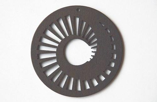 dřevěné kolečko 60 mm- šedé