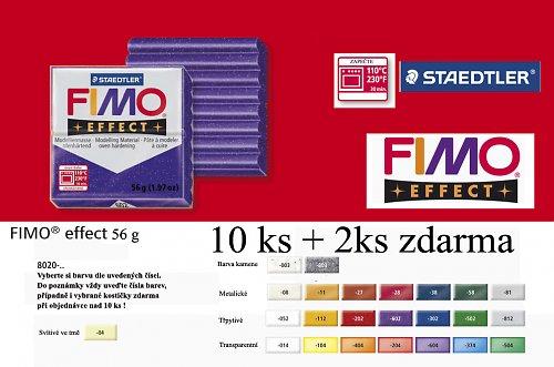 Fimo hmota effect 57 g.  Akce 10 + 2 zdarma !