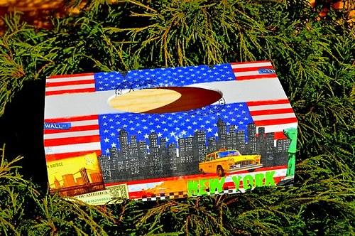 Krabička na kapesníky - New York