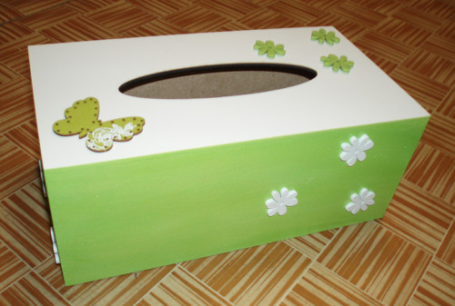 Krabička na papír.kapesníky - květiny