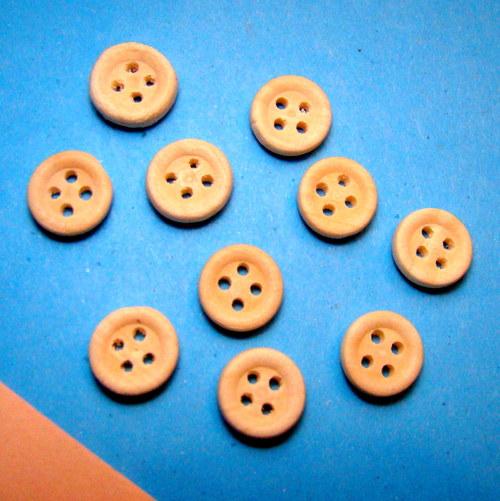 Dřevěné knoflíky - malé