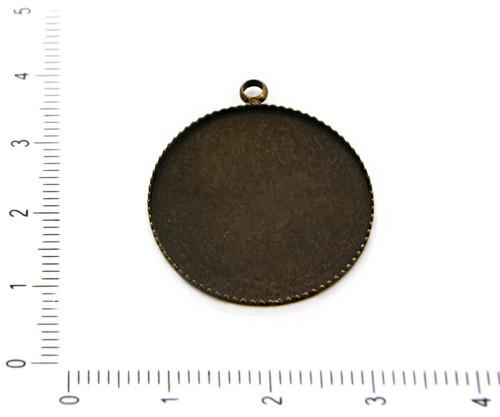 2ks Starožitné Bronzové Plochý Kulatý Kabošon Přív