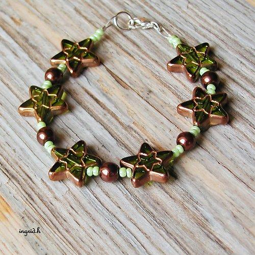 Náramek Zelené hvězdičky