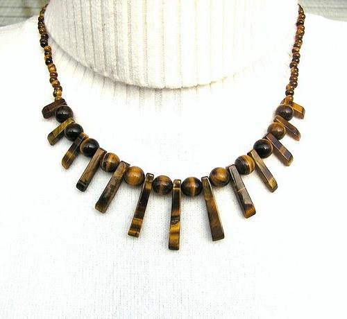 Tygří oko - náhrdelník