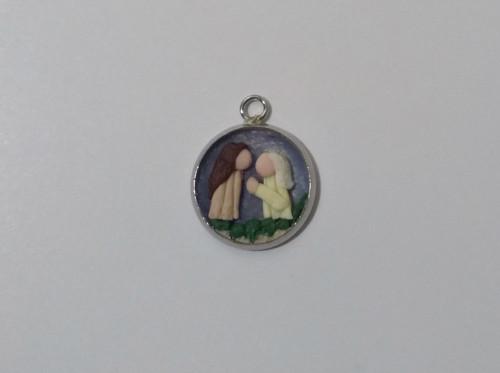 Vánoční mini medailonek Svatá rodina