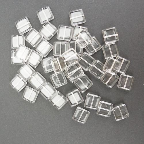 Skleněné ČTVEREČKY 15x15mm - transparentní (10ks)