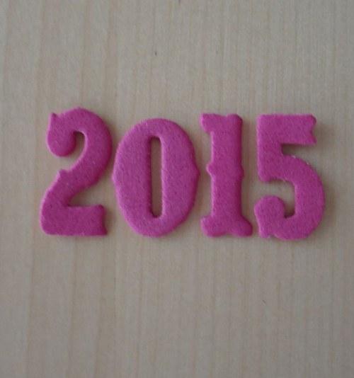 Nápis z moosgumi - 2015 - Pink