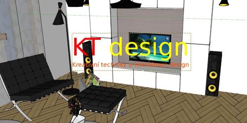Grafický návrh ve 3D - Obývací pokoj