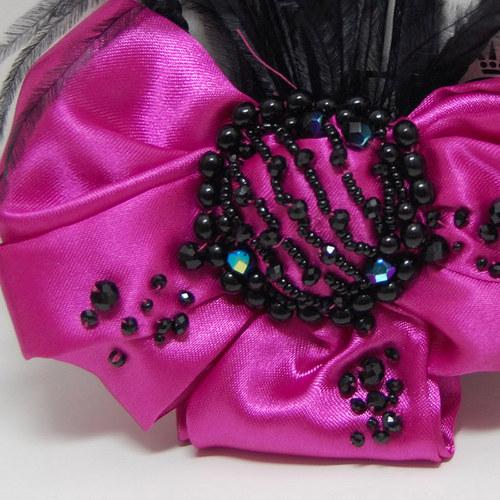 Hot Pink Bow ... spona