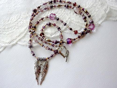 Náhrdelník  - andělské křídla pro štěstí