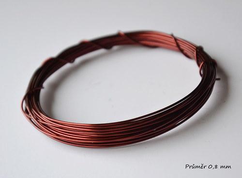 Měděný lakovaný drát pr. 0,8 mm, 10 m