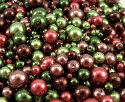Směs perliček - zelená, 25 gr (4-10mm)