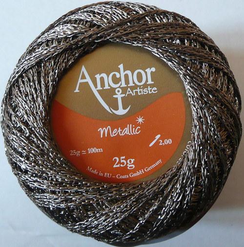 Anchor Artiste Metallic - šedá tmavá