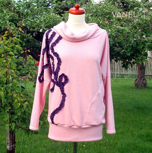 Pink & Lila - svetr/mikina  - sleva z 550,-
