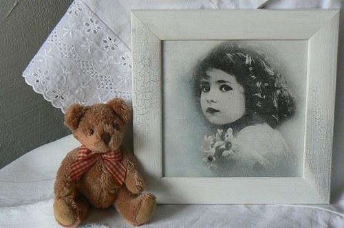 Vintage obrázek - dívka