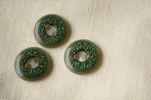 Zelené knoflíky velké_efektní_3,1 cm