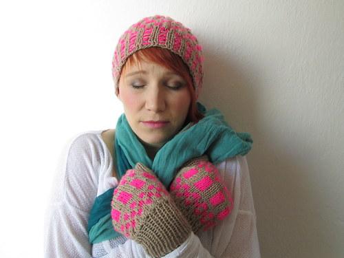 čepice + rukavice