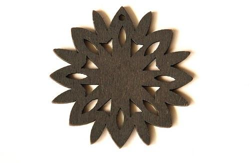 dřevěná sluníčka- šedá
