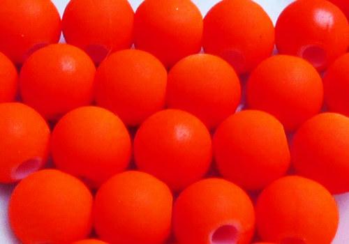 Pogumovaná kulička 6 mm - neon oranžová / 10 ks