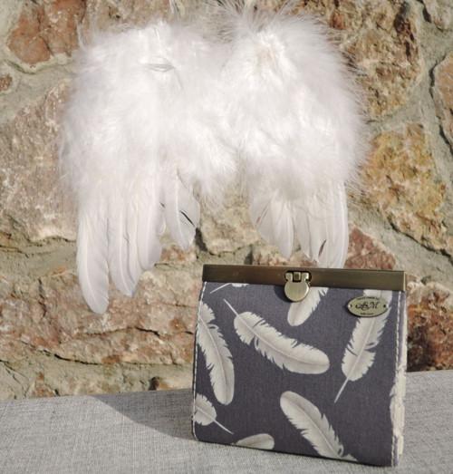 Rámečková peněženka - Andělé poztráceli peří