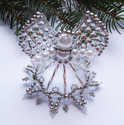 Vánoční andílek stříbrný 2