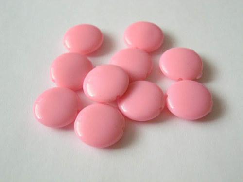 Lesklé lentilky růžové 10 ks 12kč