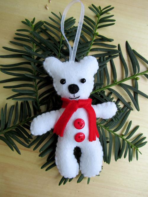 Vánoční ozdoba - medvídek