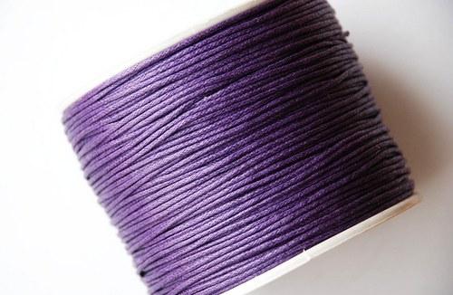 voskovaná šňůrka 10m- tmavě fialová