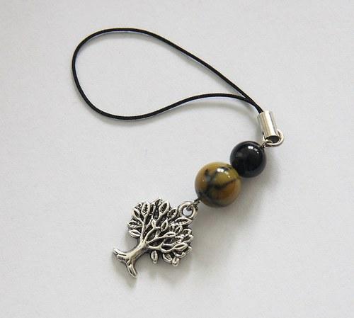 Přívěsek Strom života s Dračím Achátem a Onyxem