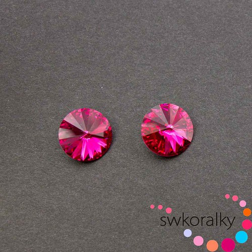 RIVOLI 12 mm SWAROVSKI ® ELEMENTS -fuchsie
