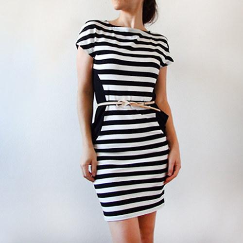 pruhované šaty Elena   Zboží prodejce Barbora Divínová  3f96de410d