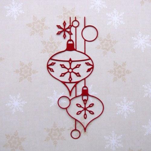 Závěs s vánočními ozdobami (14 cm)