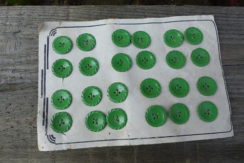 Zeleně...staré  knoflíky