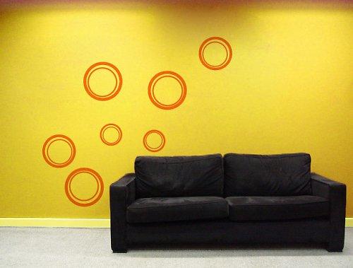 Kruhy - samolepka na zeď