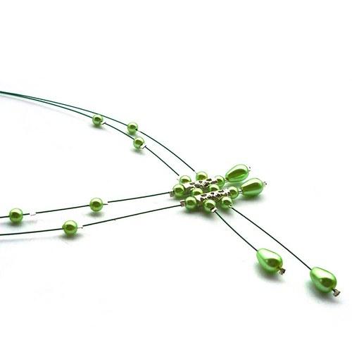 Světle zelený déšť - náhrdelník