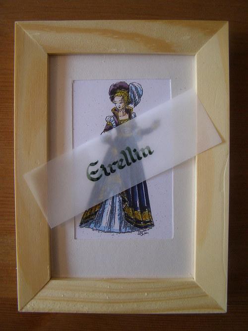 Renesanční dáma v modrém - sleva z 288,-